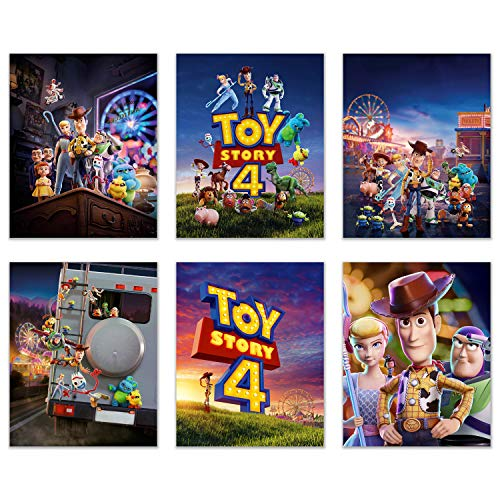 BigWig Prints Toy Story 4 Poster - Set mit 6 Fotos à 20,3 x 25,4 cm - Woody Buzz Lightyear Jessie Little BO Peep Duke Caboom Forky