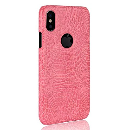 iPhone 8 Coque, Valenth Crocodile Partern Anti-Scratch Protecteur Antidérapant Grip Hybride Hard Back Coque Coque pour iPhone 8 Pink
