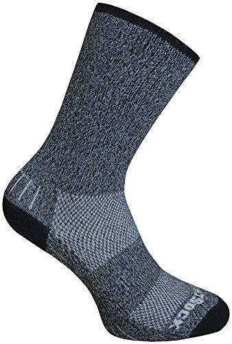WrightSock Wandersocke - Dicke Ausführung - anti-blasen-system - lange schwarze Socke - Gr. L