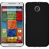 Funda Rígida para Motorola Moto X 2014 2. Gen. - goma negro - Cover PhoneNatic Cubierta + protector de pantalla