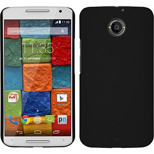 PhoneNatic Custodia Rigida Compatibile con Motorola Moto X 2014 2. Gen. - gommata Nero - Cover + Pellicola Protettiv