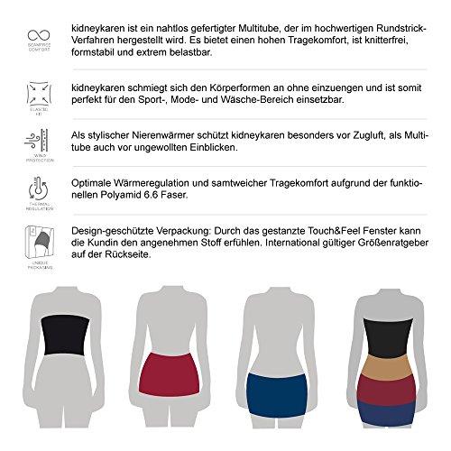 Kidneykaren Damen Nierenwärmer Yoga Fitness & Freizeit Multitube in vielen Farben Grey Melange