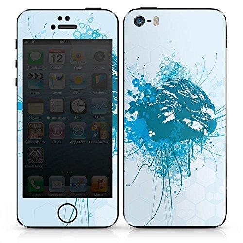 Apple iPhone 5s Case Skin Sticker aus Vinyl-Folie Aufkleber Adler Greif Vogel DesignSkins® glänzend