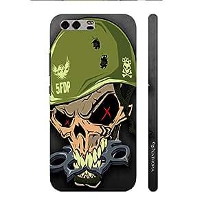 Enthopia Designer Hardshell Case Military Skull Back Cover for Huawei P10