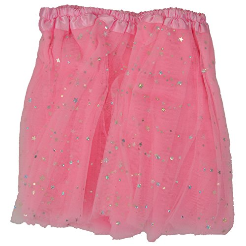 Tutu Skirt - Pink Stars Princess Girl's Pettiskirt With Sparkling Stars Dress-Up Tutu Tulle Skirt / Mini Skirt For Ballet Dance Photography Prop Costume Outfit Party Dancewear~ 23cm Length ~ 23-43 Cm Waist  available at amazon for Rs.298