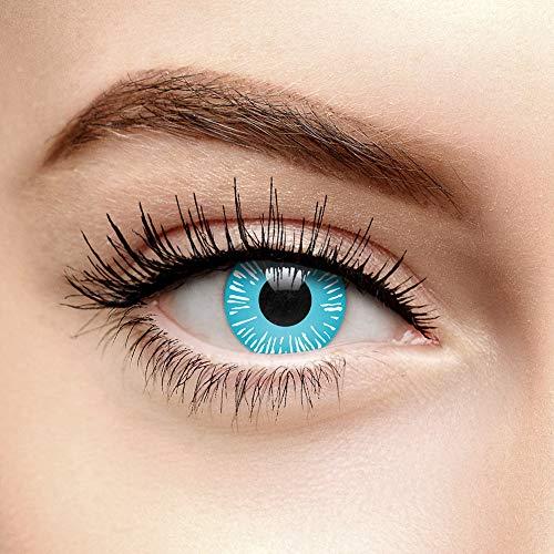Lentillas de Contacto Color Azul Caminante de Hielo (90 Días)