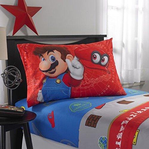 Mario Kostüm Kleinkind - Unbekannt Super Mario Odyssey World Bettwäsche-Set, 3-teilig