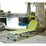 Beau Rivage Sdraio e parasole Bikini in alluminio–Verde