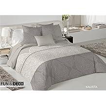 Textilhome - Funda Nórdica KALISTA - Cama 135 - 220x260cm . Color Unico + 2 Fundas Cojín 60X60cm.