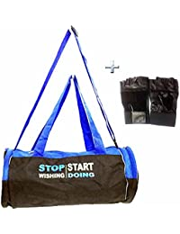 Combo Protoner Gym Bag Stop Wishing Start Doing With Gloves - B01CZVXXJG
