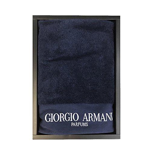 Giorgio armani. telo mare bianco in spugna 72x150cm asciugamano piscina unica misura (blu)