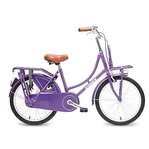 Vélo Fille Zonix Oma 20 Pouces Frein à Rétropédalage Violet 85% Assemblé