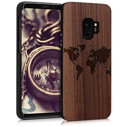 kwmobile Samsung Galaxy S9 Hülle - Handy Schutzhülle aus Holz - Cover Case Handyhülle für Samsung Galaxy S9