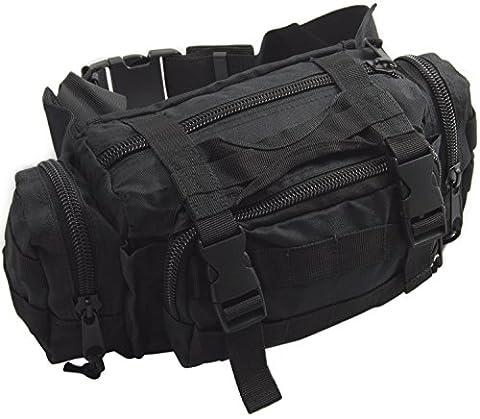 Nitehawk Army/Military MOLLE Waist Pack Bum Bag Black
