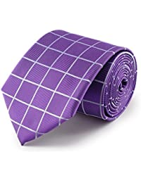 cravate quadrillage violet