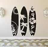 Xzfddn Grande Taille Planche De Surf Sticker Mural Sports Nautiques Sticker Design Moderne Papier Peint De Planche De Surf Amovible Vinyle Mer Stickers