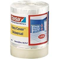 Tesa 04368-00012-01  Easy Cover 4368 Premium Malerkrepp mit Abdeckfolie 33 m:550 mm