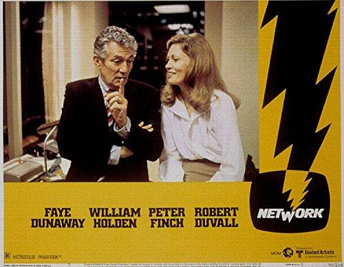 Network, Faye Dunaway, William Holden, Peter Finch, Robert Duvall, 1976 - Foto-Reimpresión película Posters 32x25 pulgadas - sin marco