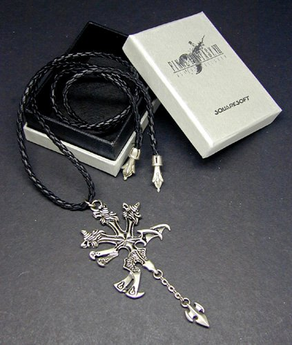Final Fantasy VII Vincent Halskett Necklace | FF7 Kostüm Cosplay Dissidia Cloud Sephiroth XV ()