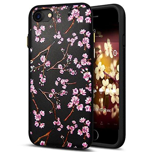 Cover iPhone 8,Cover iPhone 7,Custodia iPhone 8 / iPhone 7 Cover,ikasus® Cover custodia iPhone 8 / iPhone 7 disegno colorato TPU con 3d arte pittura floreale fiore fiori ciliegio girasole modello Cust Fiore #10