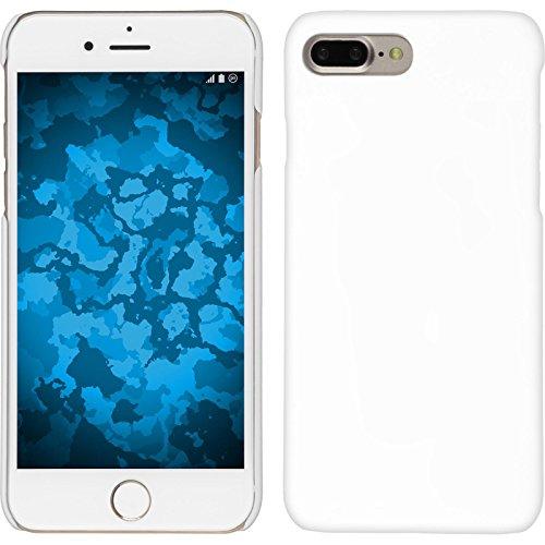 Phonenatic custodia rigida per apple iphone 7 plus/8 plus - gommata bianco - cover pellicola protettiva
