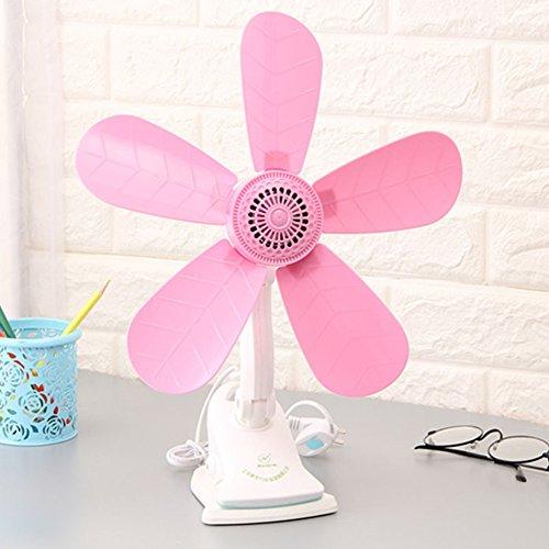 5 Feuilles Pince Ventilateur Dortoir Lit Rose Ventilateur Petit Clip Bureau Bureau De Serrage Du Ventilateur Ventilateur Domestique