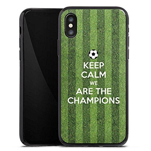Apple iPhone X Silikon Hülle Case Schutzhülle Fußball Champions Sieger Silikon Case schwarz