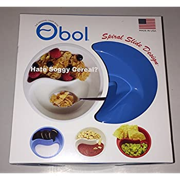 Obol the original never soggy cereal bowl with the spiral obol the original crispy bowl 7 inch blue ccuart Gallery
