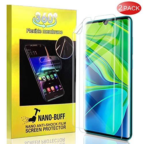 KuGi. Souple TPU Verre trempé pour Xiaomi Mi Note 10/Xiaomi Mi Note 10 Pro, [Anti-Rayure] HD Ultra Transparent Protection écran en TPU Souple pour Xiaomi Mi Note 10/Xiaomi Mi Note 10 Pro (Pack de 2)