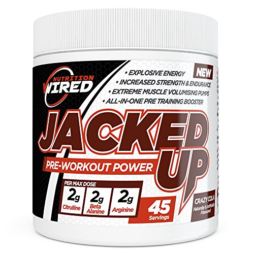 Jacked-Up-Pre-Workout-Supplement-by-Wired-Nutrition--Increase-Strength-Endurance--Creates-Explosive-Sustainable-Energy--All-in-One-Training-Booster-45-Servings-Crazy-Cola