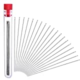 30 Pieces Beading Needles, 0.45 mm Diameter and 80 mm/ 3.15 inches Long with Needle Bottle