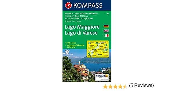 Verbania Lago Maggiore Karte.Amazon It Carta Escursionistica N 90 Laghi Settentrionali Lago