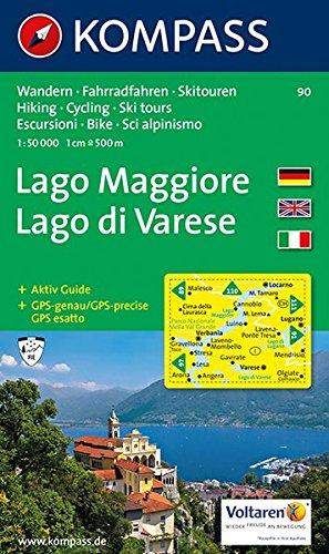 Carta escursionistica n. 90. Laghi settentrionali. Lago Maggiore, Lago di Varese