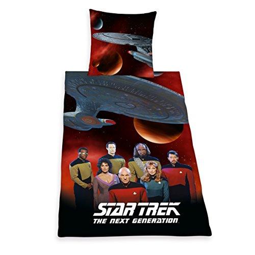 Herding 441708050 Bettwäsche Star Trek, Kopfkissenbezug: 80 x 80 cm und Bettbezug: 135 x 200 cm, 100% Baumwolle, Renforce (Bettwäsche Star Trek)