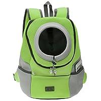 Ayliss Pet Carrier Front Pack Dog Cat Travel Bag Backpack Suitable for Pets up to 7.5kg (Medium, Green)
