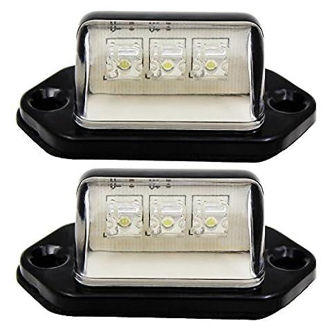 purishion 2x Auto LED License Plate Tag Licht 12V oder Bequemlichkeit Höflichkeit Tür Schritt Lampe
