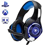 Beexcellent Gaming Headset for PC, Comfort Noise Reduction Crystal Clarity 3.5mm LED Professional Headphone with Mic for Xbox One PS4 Laptop Tablet Mac Smart Phone