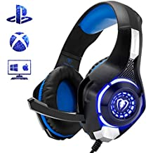 Beexcellent GM-1 Gaming Headset for PS4 Xbox One, Comfort Noise Reduction Crystal Clarity 3.5mm LED