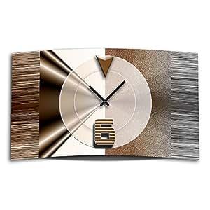 abstrakt braun designer wanduhr modernes wanduhren design leise kein ticken dixtime. Black Bedroom Furniture Sets. Home Design Ideas
