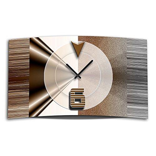 Abstrakt Braun Designer Wanduhr Modernes Wanduhren Design Leise Kein Ticken  Dixtime 3D 0327