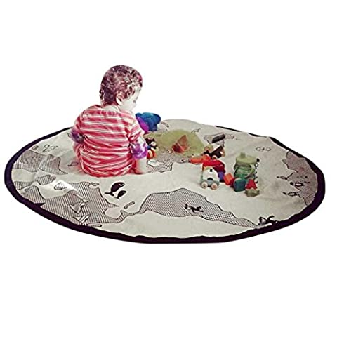 ENFANTS Tapis de jeu, Dikewang Portable Tapis de jeu Motif, dessin animé respectueux de l