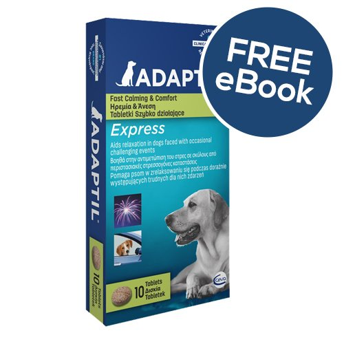 ADAPTIL Express Tablets 10 Pack – INCLUDES EXCLUSIVE PETWELL® / ADAPTIL® E BOOK