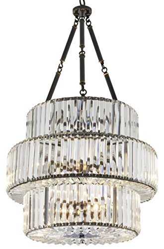 Casa Padrino Luxus Kristallglas Kronleuchter Rotguss
