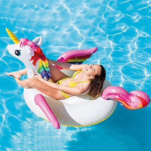 2019 Neu Übergroße Pool Spielzeug Aufblasbare Spielzeuge Für Kinder,Erwachsenes Verdicktes Einhorn-schwimmring,Schwimmendes Bett Schwimmsitz
