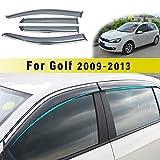 Jiahe per Volks wagen Golf 6 2009-2013 4PCS Deflettori d'Aria per Auto Deflettore Pioggia Vento Bloccare Sole Deflettori d'Aria Antiturbo