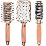 Lily England Set Spazzole Oro Rosa - Set Regalo professionale adatto a tutti i capelli