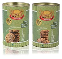 Aataberry Biscotti Honey Oatmeal Raisins and Choco-Chip Cookies, 150 Grams (Combo of 2)