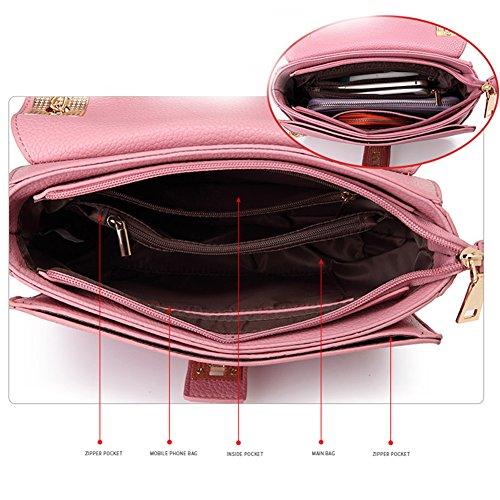 Yoome Elegante Lichee Borsa a tracolla modello per il portafoglio di nozze Borsa a tracolla per le donne - Rosso Rosso