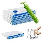 Hopaba Platzsparer Vakuum-Aufbewahrungsbeutel mit KOSTENLOSE Handpumpe für Kleider Decke 2-Jumbo 4-Large 2-Rollen Beutel (8er Pack)