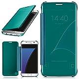 MoEx Samsung Galaxy S7 Edge Hülle Transparent TPU [OneFlow Void Cover] Dünne Schutzhülle Türkis Handyhülle für Samsung Galaxy S7 Edge Case Ultra-Slim Handy-Tasche mit Sicht-Fenster